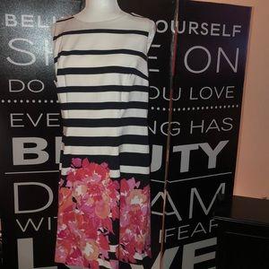 ALYX dress , floral, black, white striped